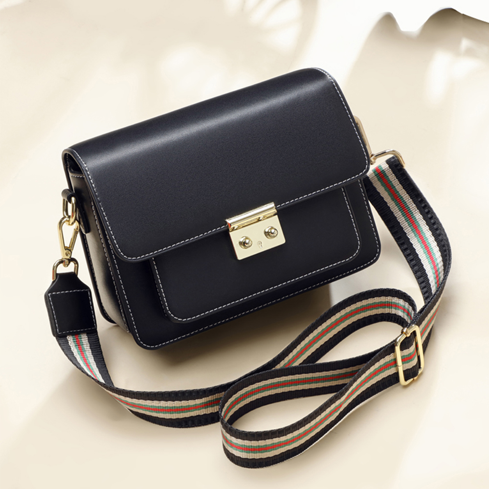 Women Bags Flap Messenger-Bags Crossbody Double-Chain Genuine-Leather Fashion High-Quality