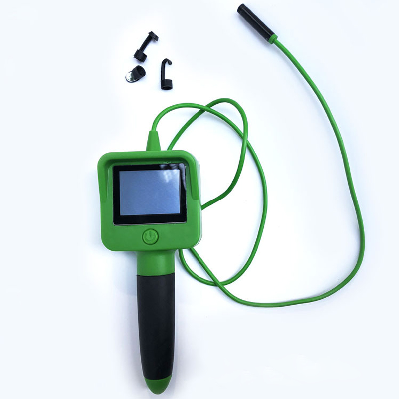 Endoscope Camera With 2.4 Inch Color Liquid LCD Screen 1.1M Soft Cable Waterproof Handheld Inspection Borescope Camera