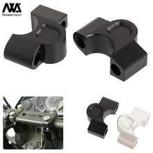 Para kawasaki versys x300 2017-2018 motocicleta guiador riser kit de extensão braçadeira de alumínio adaptadores suportes
