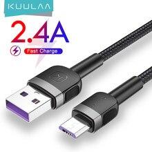 Câble Micro USB KUULAA pour Xiaomi Mi Redmi 7 chargeur de Charge rapide câble de Charge MicroUSB pour Samsung S7 Huawei Honor 8X cordon USB