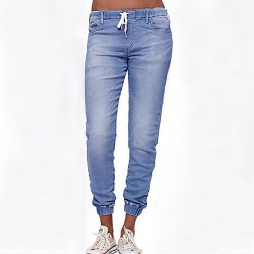 SAGACE 2019 Autumn Women Skinny Denim Light Pencil Pants Stretch Jeans High Waist Slim Pockets Pants Women Jeans