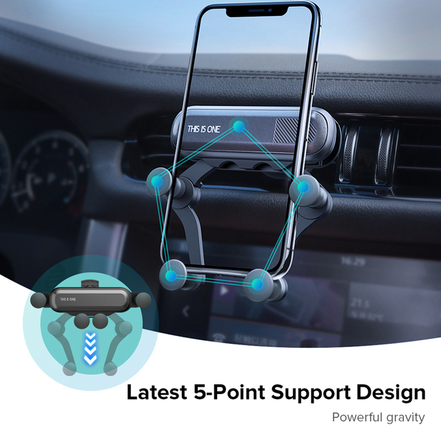 Gravity Car Holder For Phone in Car Air Vent Clip Mount No Magnetic Mobile Phone Holder GPS Stand For iPhone XS MAX Xiaomi 3