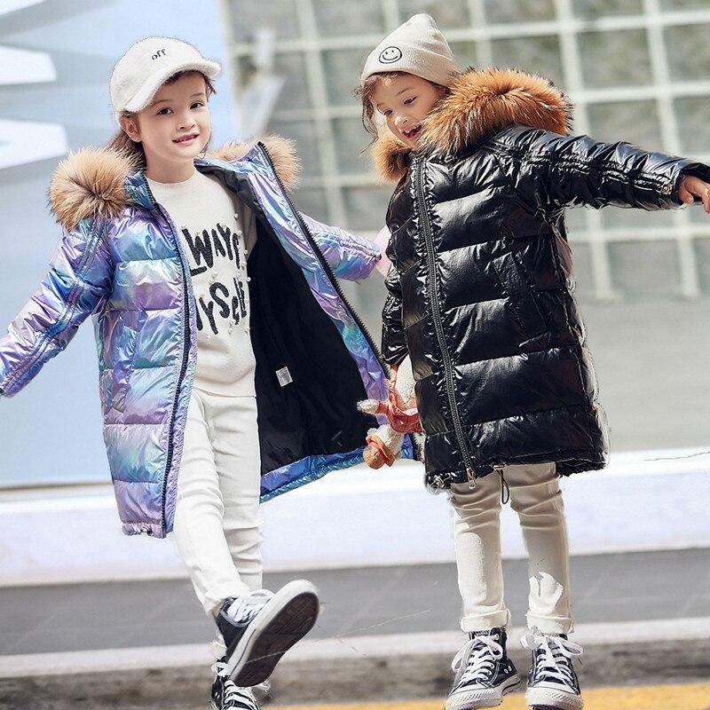 5-14Y nouvelle mode enfants hiver doudoune pour enfants vêtements fille argent or garçons à capuche manteau Outwear Parka snowsuit manteaux