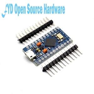 Image 1 - 1 pces pro micro atmega32u4 5v 16mhz substituir atmega328 para arduino pro mini com 2 cabeçalho do pino da fileira para leonardo mini interface usb