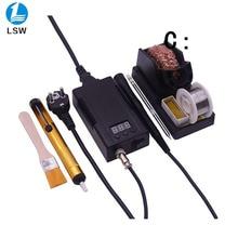 PJLSW 305D mini Portable Digital soldering station Electric solder iron+T12 tips Heating Core 100~240V better than bk950D lf005 t12 digital soldering station handle t12 i solder tip for bk950d
