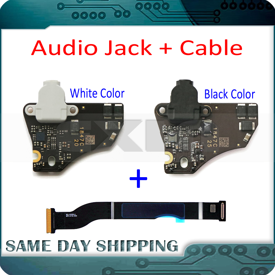 Laptop A1932 Headphone Audio Jack Board With Flex Cable 820-01124-A 821-01528-A For MacBook Air Retina 13