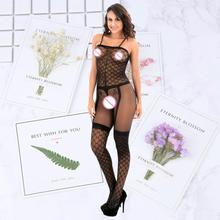 nightclub Women Sexy Lingerie Fullbody Body stocking women Hosiery sexy Stockings romper intimates Onesies Sleep Bottoms Bustier