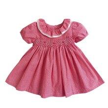 2020 여름 아기 소녀 스페인어 드레스 신생아 아기 유아 의류 유아 파티 웨딩 꽃 드레스 소녀 Vestido Infantil