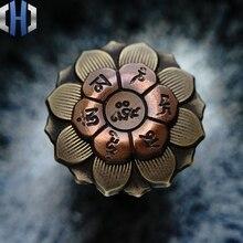 Mini Buddha Eye Lotus Fingertip Gyro Adult Decompression Toy EDC Pendant Pure Copper Brass