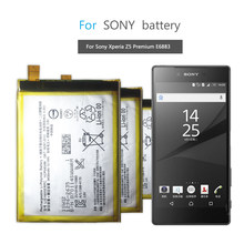 Mobile Phone Battery For SONY Xperia Z5 Premium Z5P Dual E6853 E6883 Replacement Battery LIS1605ERPC 3430mAh(China)