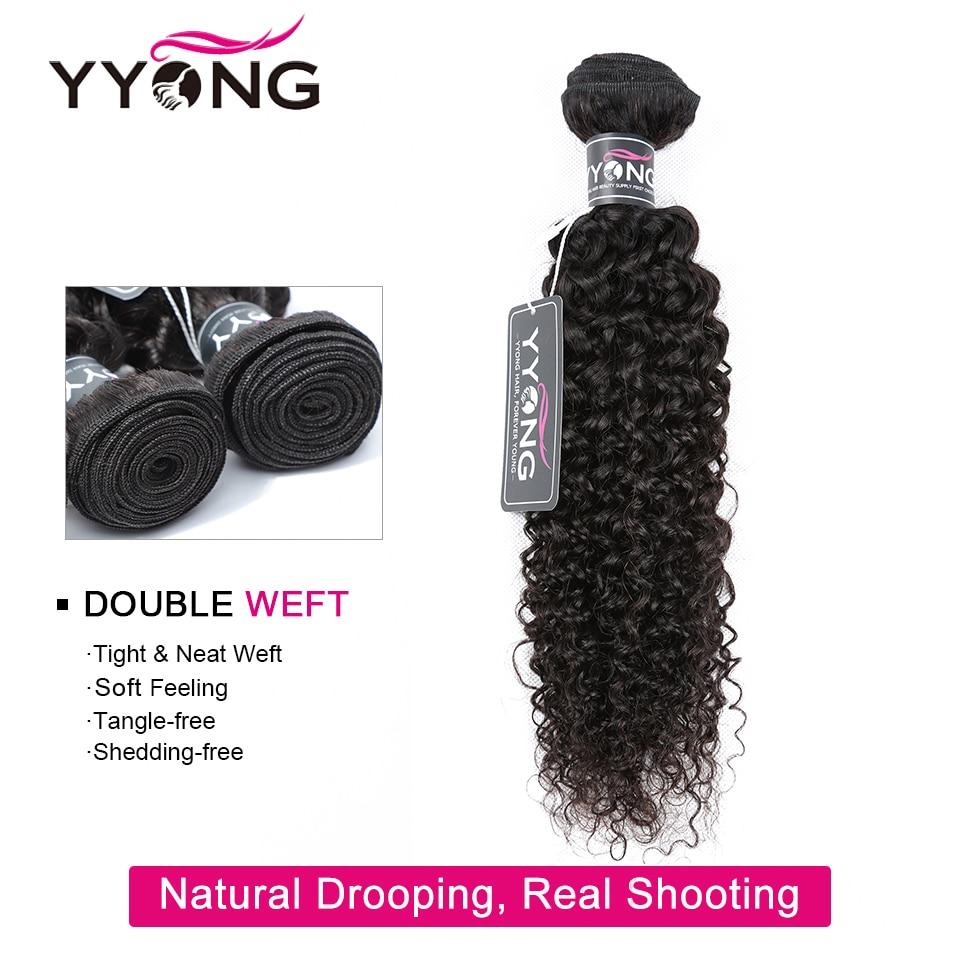 YYong Hair Store 3 Bundles With 4x6 Closure  Kinky Curly Hair Bundles With Closure   With Closure 3