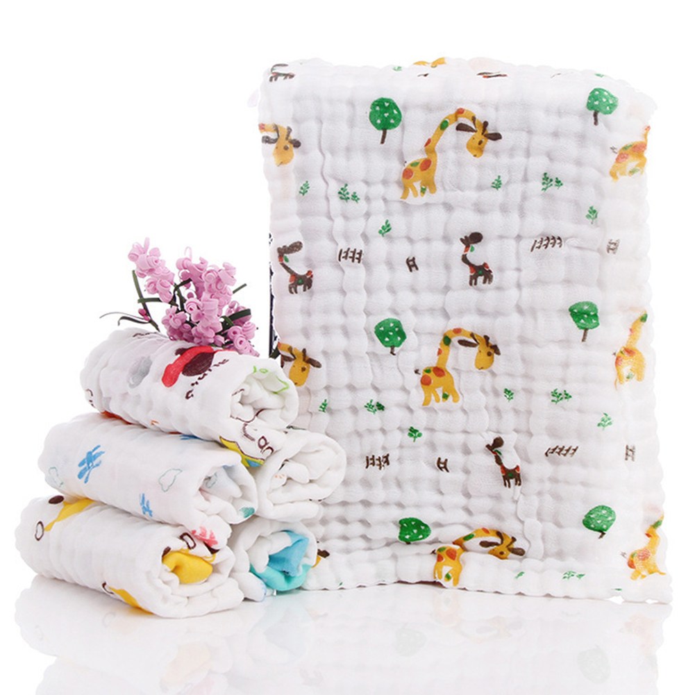 Soft Newborn Blankets Bath Gauze Infant Wrap Sleep Sack Muslin Cotton Baby Swaddles 6 Layers Stroller Cover Mat Pad