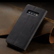 Retro Magnet Flip Card Wallet Case For Samsung Galaxy S10 Plus S10e s7 edge S8 S9 Plus Cover Coque Luxury Leather Stand Fundas(China)