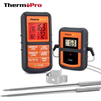 ThermoPro bezprzewodowy termometr kuchenny model TP-08S 90M podwójna sonda do grillowania wędzenia pieczenia mięsa z czasomierzem tanie i dobre opinie Piekarnik termometry Gospodarstw domowych termometry Z tworzywa sztucznego Cyfrowy Black 0C to 300C 10 5cm 100cm Up to 100 Meters