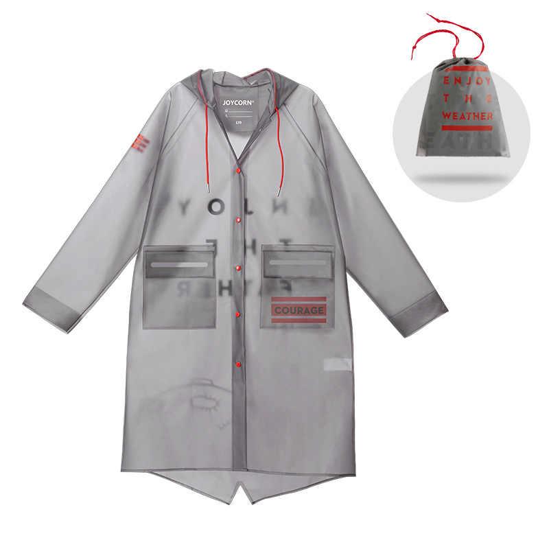 Mujer y hombre EVA impermeable con capucha portátil transparente impermeable Para viajes exterior capa Para Chuva Poncho impermeable DD60YY