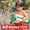 60 Holes Automatic Gatling Soap Bubble Gun Charging Electric Rocket Launcher Wedding Cartoon Bubble Machine Toys for children