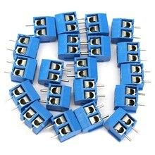 10Pcs blue 2-pin pitch screw terminal block connector 5.08mm panel pcb mount MC