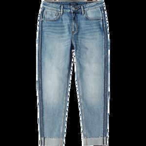 Image 5 - SIMWOOD jeans männer fashion Rohen rand seite gestreiften mode denim hosen plus größe 2019 herbst winter neue hosen 190403