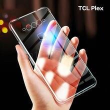 Para tcl plex caso ultra fino cristal claro tecnologia de absorção de choque amortecedor macio tpu capa casefr tcl plex t780h 6.53