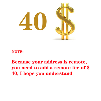 $ 40 address remote fee