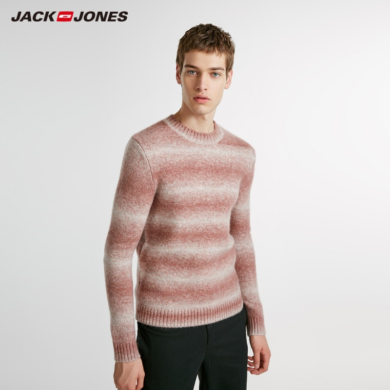 JackJones Men's Wool & Mohair Sweater Pullover Top Basic Menswear 218425530