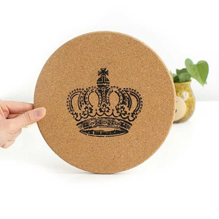 1 Pc Cangkir Air Teh dan Kopi Kayu Tatakan Alami Cork Coaster Tahan Panas Pot Pan Mat Tabel Pelindung Pad dapur Gadget