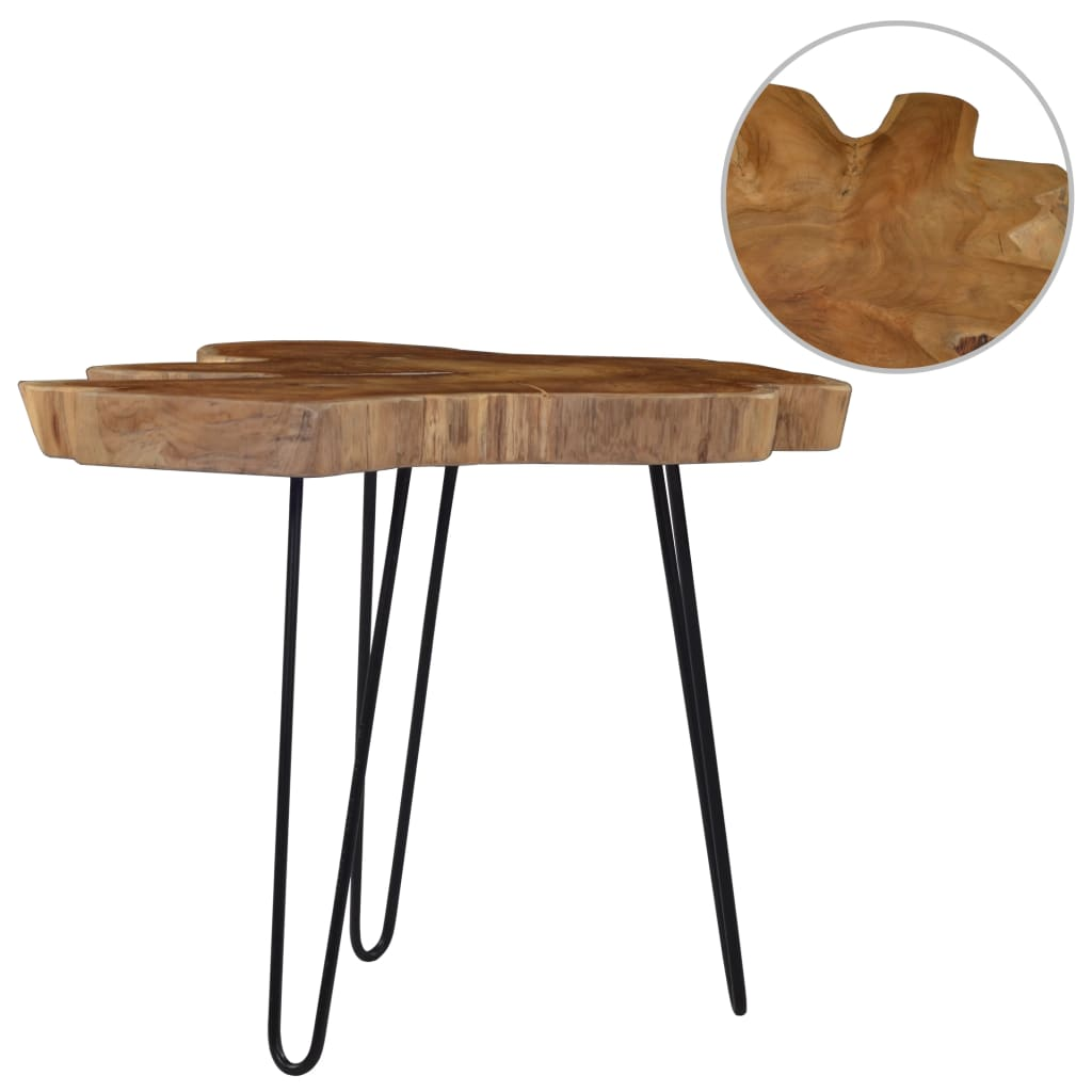 VidaXL Coffee Table (60-70)x45 Cm Teak Wood