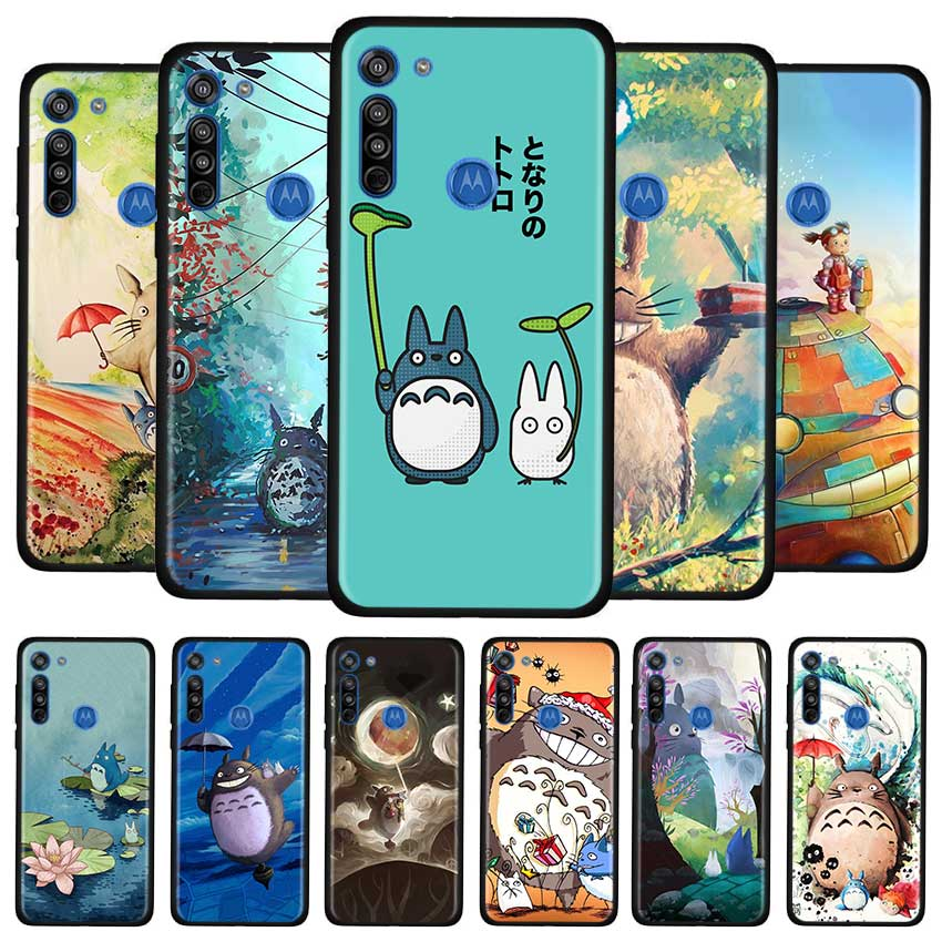 Anime Studio Ghibli Totoro Case For Motorola G8 Play G Stylus G Power G8 Power Lite E6s Edge Plus One Hyper Soft TPU Cover Couqe