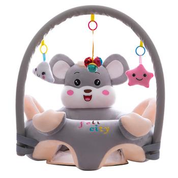 Moda niemowlęcy zestaw wypoczynkowy pokrowiec oddychający kryształ aksamitny fotelik dla dziecka wsparcie krzesło zabawki zwierzątka z kreskówek dla dzieci nauka siedzieć tanie i dobre opinie Unisex Other CN (pochodzenie) 13-24m 25-36m 3-6y Cartoon Sofa Cover Chair
