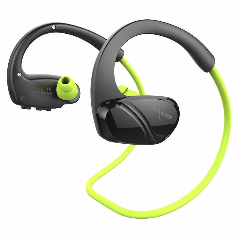 Gorliwy H6 sport bezprzewodowe słuchawki Stereo wodoodporna Bluetooth słuchawki z mikrofonem dla smartfonów systemem siłownia