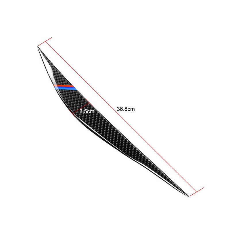 Carbon Fiber Scheinwerfer Augenbrauen Augenlider Trim Abdeckung für BMW F30 F34 316i 320i 325i 2013-2015 Auto Licht Stickes zubehör