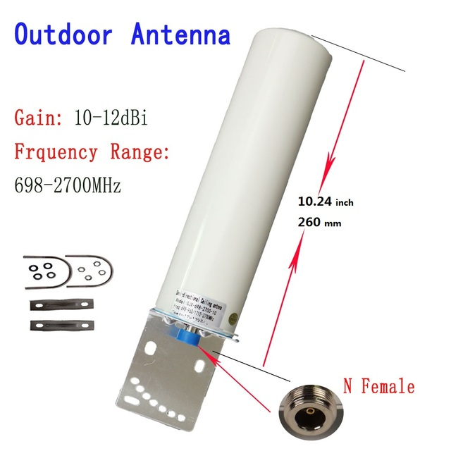 ZQTMAX 12DBi Omni في الهواء الطلق هوائي ل 2G 3G 4G 800 900 1800 1900 2100 2600 GSM DCS مكرر الخلوية موبايل مكبر صوت أحادي
