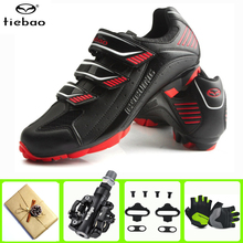 Tiebao Cycling Shoes Sapatilha Ciclismo Mtb Breathable Mountain Bike Racing Self-Locking Shoes Athletic Bicycle Shoes Red Green sidebike men women bicycle cycling shoes outdoor mtb racing athletic shoe breathable mountain bike self locking shoes red