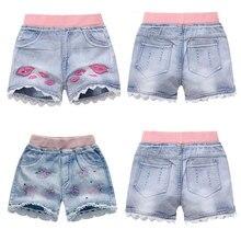 Джинсовые шорты для девочек-подростков, летняя детская пляжная одежда, детские шорты для девочек-подростков