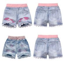 Girls Denim Shorts Teenagers Summer Lace Short Pants Kids Beach Clothes Children's Shorts For Teenage Girls