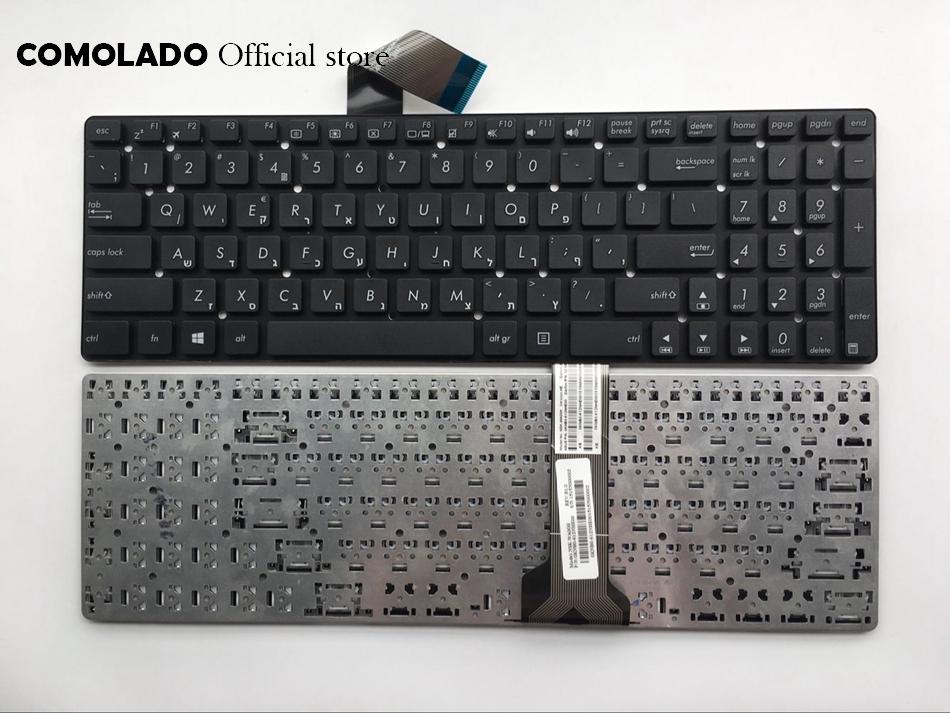 West Balkans Brazil Hebrew Swiss Keyboard for ASUS K55V K55 K55A K55VD K55VJ K55VM K55VS A55 A55V A55XI A55DE A55DR R500v R700V|Replacement Keyboards| |  - title=