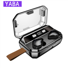 YABA X12 8000mAh 9D Stereo Bluetooth Earphones IPX7 Waterproof Sport Headsets  Wireless Earbuds With LED Display