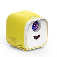 L1 Novo Mini Projetor WIFI Crianças USB Suporte Projetor Portátil Full HD 1080P Mini Projetor de Educação Precoce Amarelo