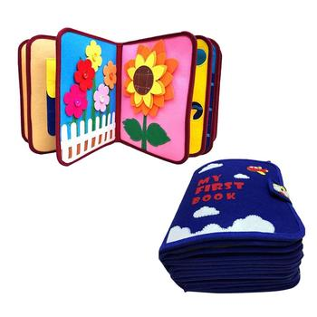 Cloth Books Educational Baby Toys Hot Infant Kids Early Development Cloth Books Cartoon Animal Learning Unfolding Activity Books