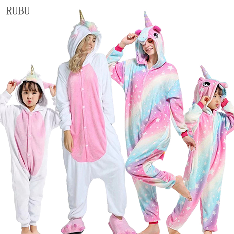 Kigurumi Pajamas Unicorn Kids Animal Women Pajamas For Boys Girls Baby Pyjamas Panda Onesie Kids Boy Jumpsuit Winter Sleepwear
