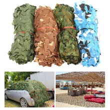 цена на 5x4m - 3x2m Military Camouflage Net Camo Netting Army Nets Shade Mesh Hunting Garden Car Outdoor Camping Sun Shelter Tarp Tent
