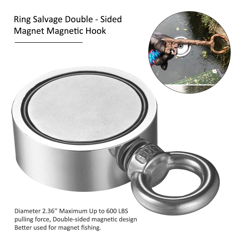 Strong Double - Sided Magnetic Ring Strong Magnetic Ring Salvage Double - Sided Magnet Magnetic Hook Dual Side Fishing Magnets
