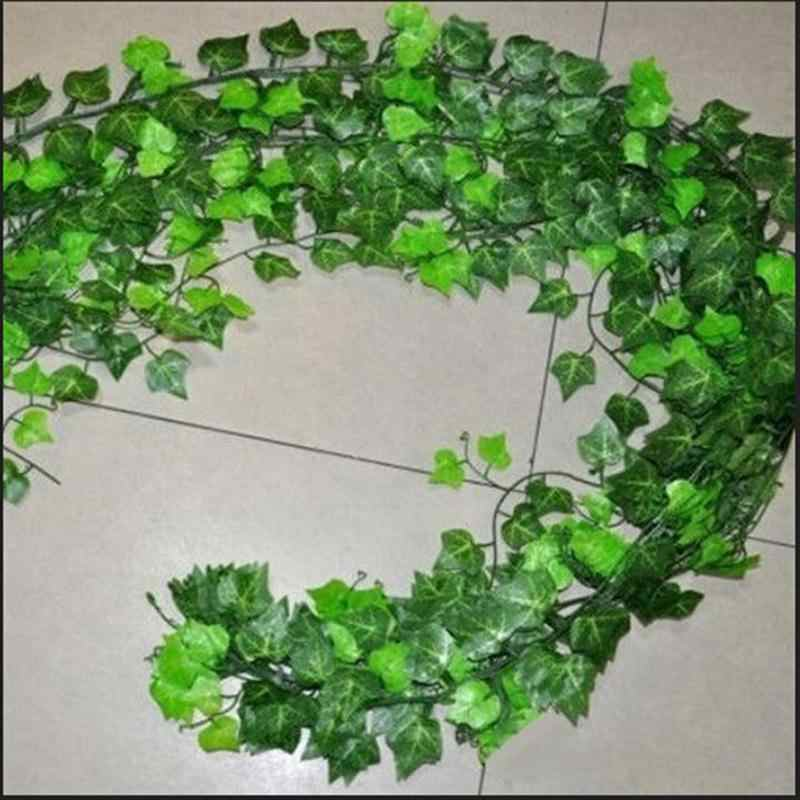 2.5 M/98in ประดิษฐ์ตกแต่ง VINE ประดิษฐ์ Ivy Leaf Garland พืช VINE Fake Foliage งานแต่งงานอุปกรณ์ตกแต่ง