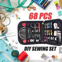 68Pcs Kits De Costura DIY Multi-função de Jogo da Caixa De Costura para Quilting Mão Acessórios de Costura linha de Bordar Costura