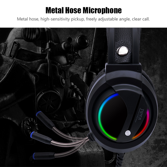 Gaming Headset Gamer 7.1 Surround Sound USB 3.5mm Wired RGB Light Game Headphones with Microphone for Tablet PC Xbox One PS4 5