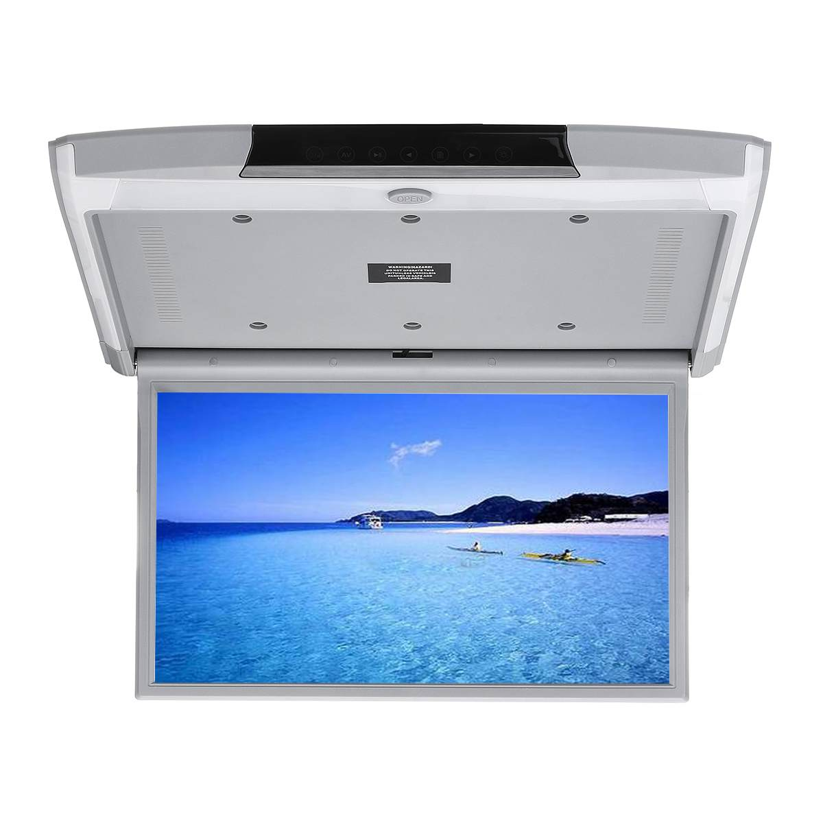 15.6 Inch Car Monitor Ceiling Mount Roof HD Video <font><b>1920x1080</b></font> <font><b>IPS</b></font> Screen <font><b>HDMI</b></font>/USB/SD/FM/Bluetooth/Speaker HD Screen MP5 Player image