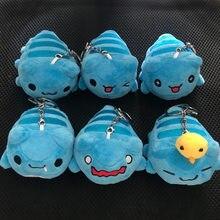 Bugcat capoo brinquedos de pelúcia chaveiro cosplay azul bonito gato brinquedo saco pingente ornamento de pelúcia dos desenhos animados boneca adereços presentes agradáveis para crianças
