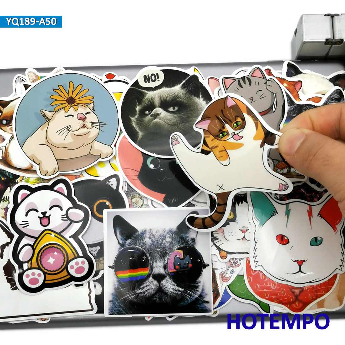 50pcs Cute Pets Kitten Puppy Anime Cat Dog Style Stickers Toys For Kid Mobile Phone Laptop Luggage Case Skateboard Decal Sticker