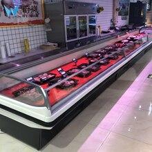 Свежее мясо открытый дисплей/мясо дисплей холодильник/МОРЕПРОДУКТЫ дисплей морозильник витрина