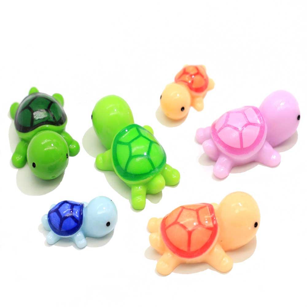 10/50 шт красочные милые мини животные миниатюрные черепахи Фея Сад DIY Кукольный дом суккуленты пейзаж из мха украшение